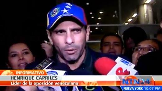 Henrique Capriles llega a Colombia para reunirse con el presidente Santos